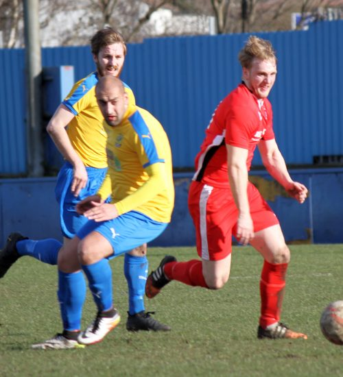 Luke Walker in Action V Albion Sports
