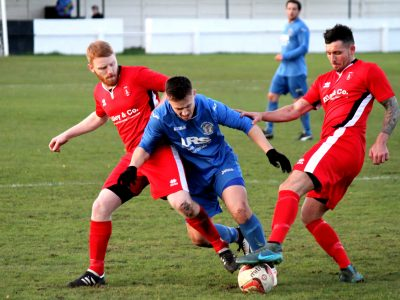 Rob Paling & Josh Nodder in action against Armthorpe Welfare November 2016