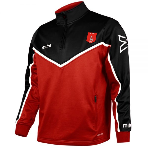 ¼ Zip Tracksuit Top (Red/Black)